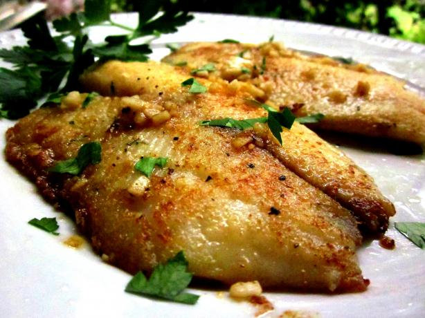 Pan Fried Tilapia from Sandra Lee. Photo by gailanng