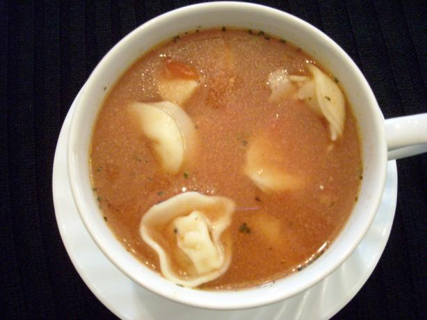 Tortellini Soup. Photo by mums the word