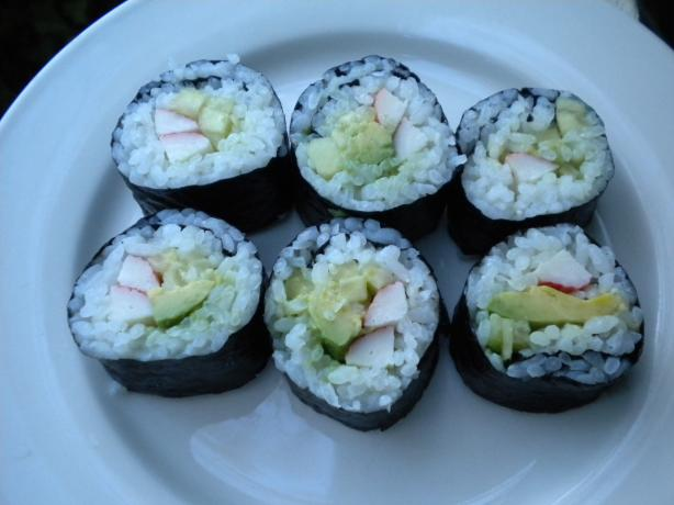 California and Maki  Rolls (Japanese Sushi). Photo by Tarteausucre