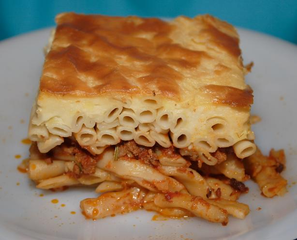 Greek Pastitsio. Photo by Nikkicookbook