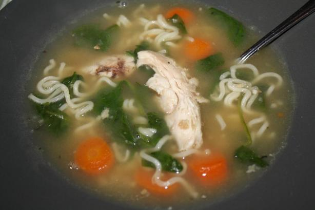 Chicken Noodle Soup Using 5 Ingredients. Photo by Pink_Diamond