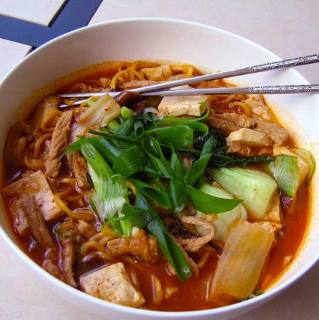 Grandma's Rainy Day Kimchi Noodle Soup. Photo by yobodish