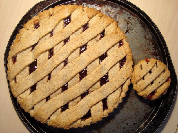 Martha Stewart's Linzer Tart With Lingonberry (Or Raspberry) Jam. Photo by lilsweetie