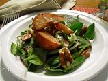 Warm Apple Vinaigrette With a Roasted Pear &amp; Spinach Salad