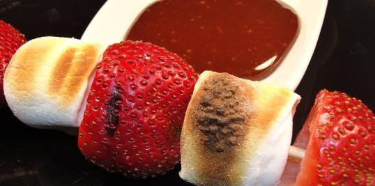 Strawberries and Marshmallows for the BBQ. Photo by diner524