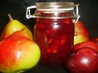 Plum Kissed Pear Jam. Recipe by Sharon123