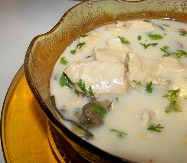 Thai Galangal Chicken Soup ( Tom Ka Gai). Photo by Baby Kato