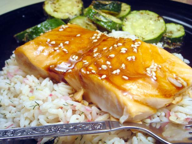 Maple-Soy Glazed Salmon (America's Test Kitchen). Photo by Lori Mama