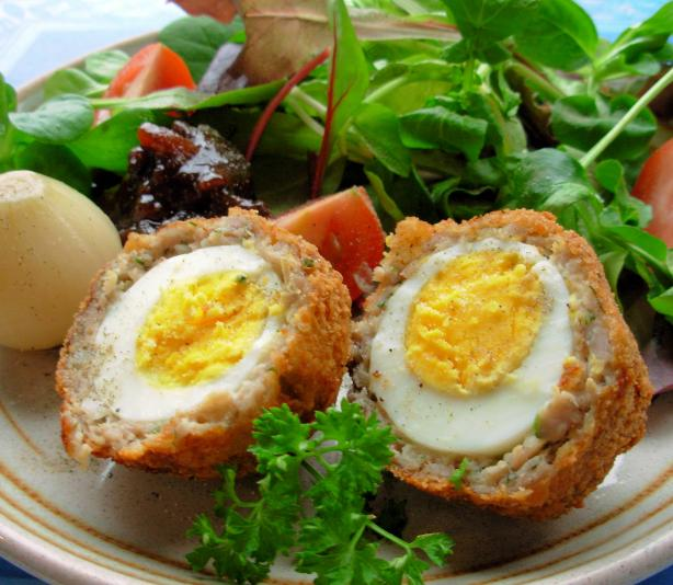 Fortnum and Masons Authentic Scotch Eggs With Sausage and Herbs. Photo by French Tart