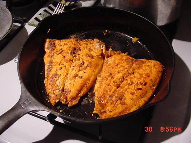 The Best Cajun Blackened Salmon Ever.. Photo by Timothy J Higgins Eva