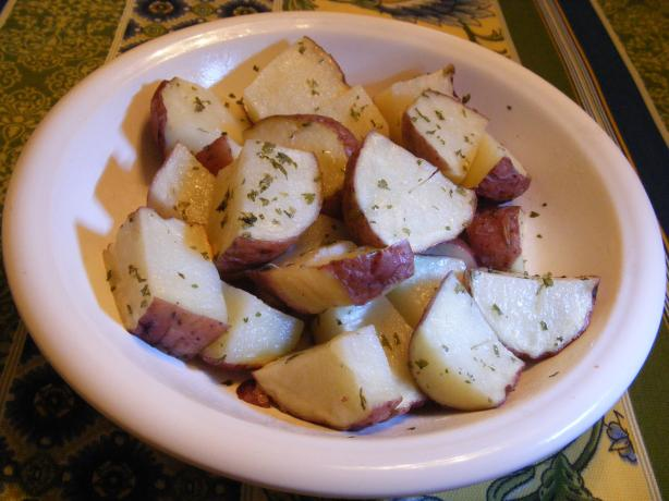Microwave Garlic Potatoes. Photo by Seasoned Cook