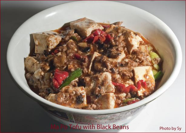 Mapo Tofu With Chinese Black Beans Sichuan Style. Photo by Skipper/Sy