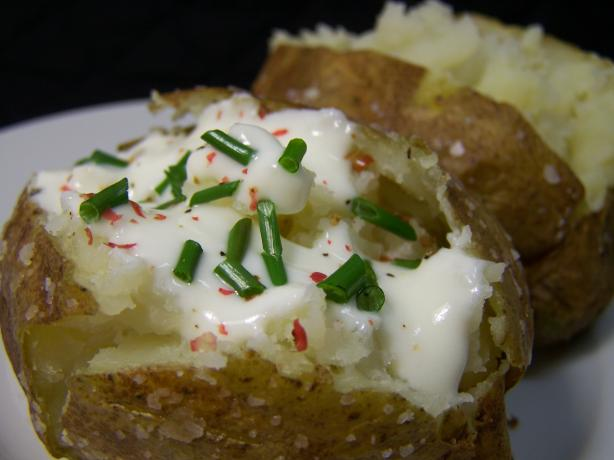 Fast! Potatoes Baked in the Micro and Oven With Sea Salt Crust. Photo by Diana #2