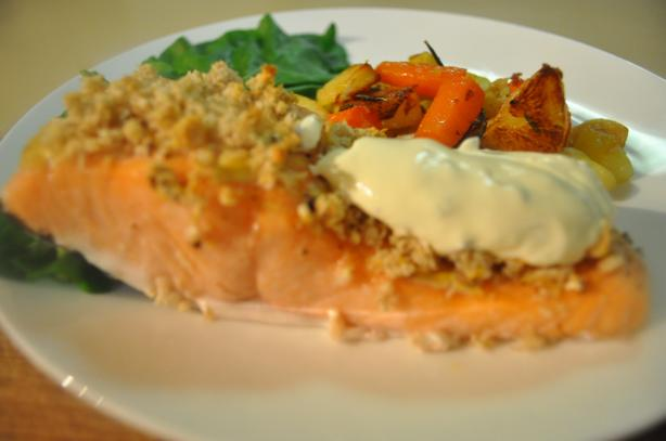 Mustard Crusted Salmon (For the Toaster Oven). Photo by I'mPat