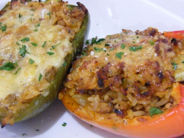 Stuffed Peppers With Pork and Rice. Photo by AskCy