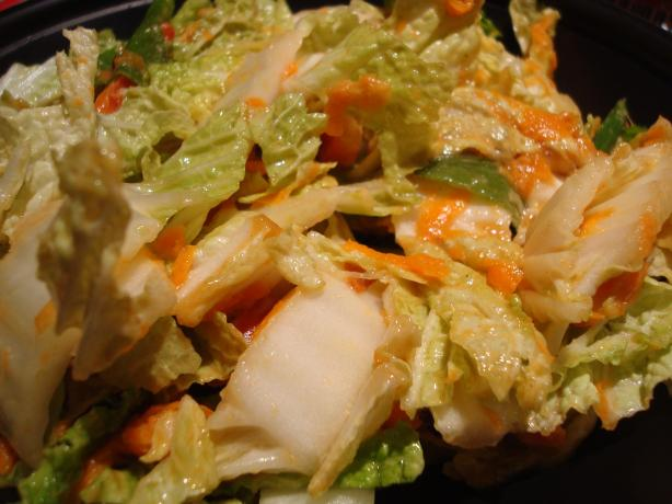 Cabbage Salad With Peanut Dressing (Vegan). Photo by Starrynews