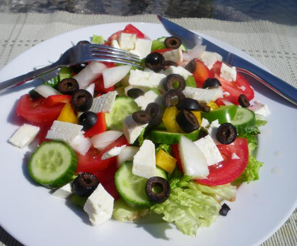Greek Salad. Photo by Bergy