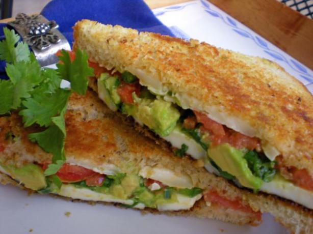 Avocado-Tomato Grilled Cheese Sandwich. Photo by gemini08