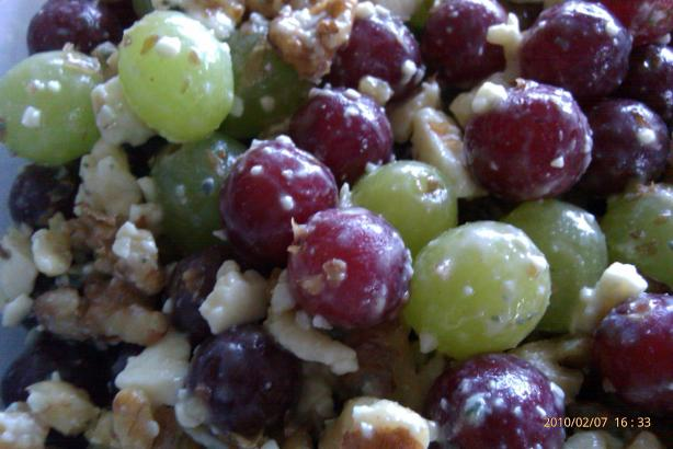 Grape Salad With Walnuts and Bleu Cheese. Photo by Iwanttobemartha