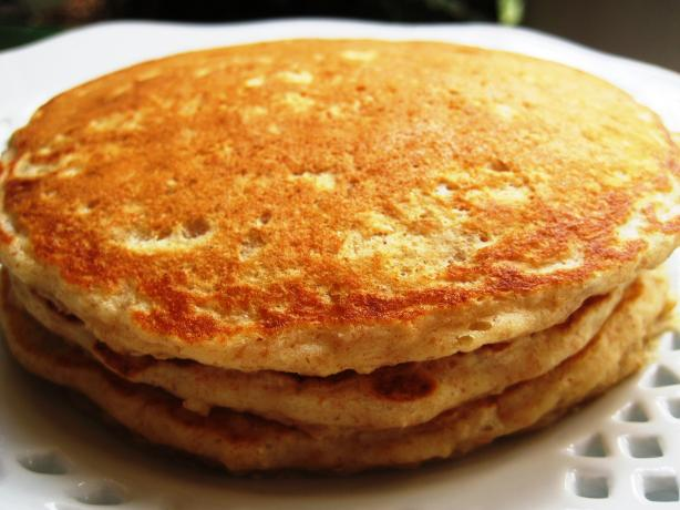 Hearty Oatmeal Pancakes. Photo by gailanng