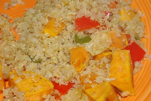 Quinoa, Sweet Potato and Peppers. Photo by Linky