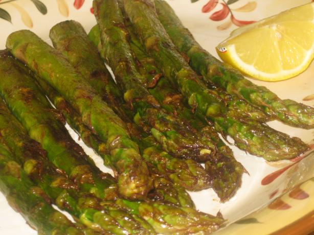 Smoky Grilled Asparagus. Photo by Chef Sarita in Austin Texas