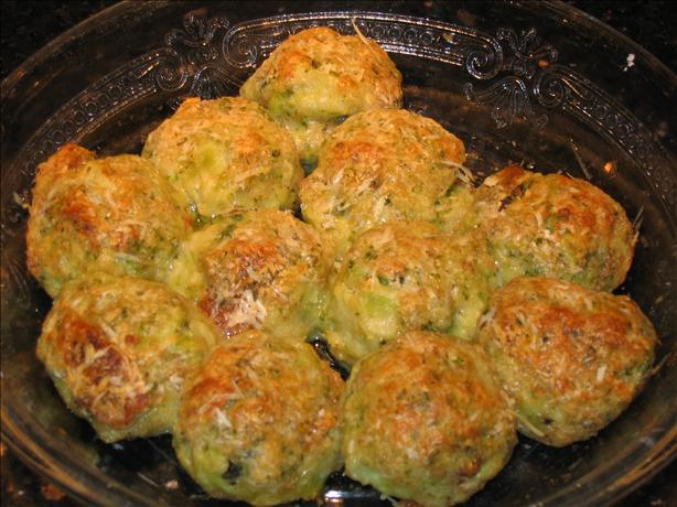 Parmesan Broccoli Balls. Photo by Claire de Luna