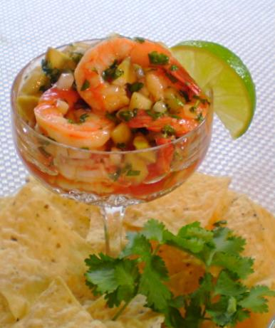"Shrimp Ceviche ""cocktail"". Photo by TasteTester"