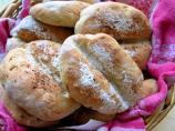 Traditional French Pistolets - Little Onion and Rye Bread Rolls