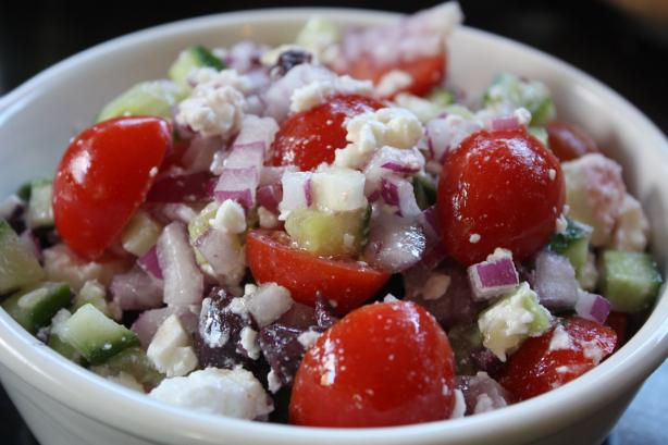 Greek Inspired Salad. Photo by Leggy Peggy