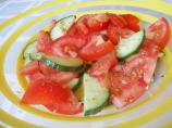 Refreshing Cucumber, Tomato and Lime Salad
