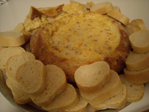 Awesome Cheese Dip in Bread Bowl. Photo by mums the word