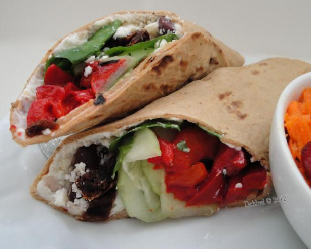 Easy Greek Wraps. Photo by Debbwl