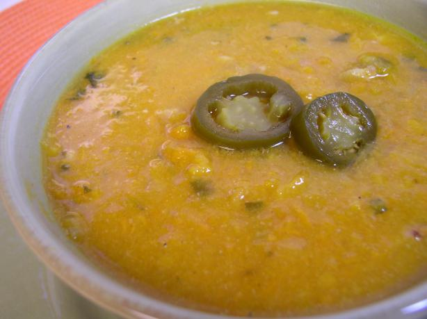 Jalapeno Sweet Potato Soup. Photo by Bayhill