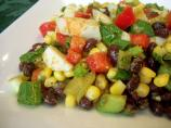 Colorful Black Bean and Crab Salad