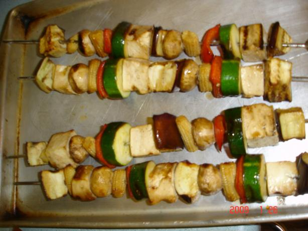 Carina's Tofu-Vegetable Kebabs. Photo by young chef #3