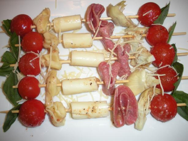 Party Antipasto Skewers. Photo by ChefDLH