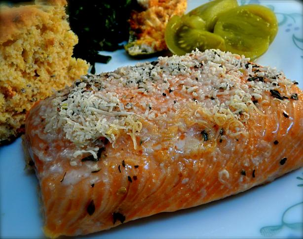 Parmesan Encrusted Salmon Fillet. Photo by PaulaG