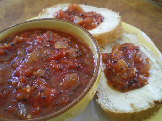 Tomato Chilli (Chile) Jam. Photo by Julie B&#39;s Hive