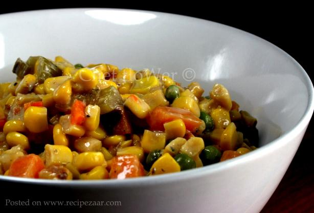 Hearty Vegetarian Corn Chowder. Photo by Chef floWer