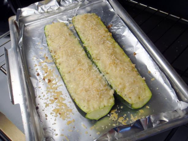 Baked Zucchini With Parmesan. Photo by Lori Mama