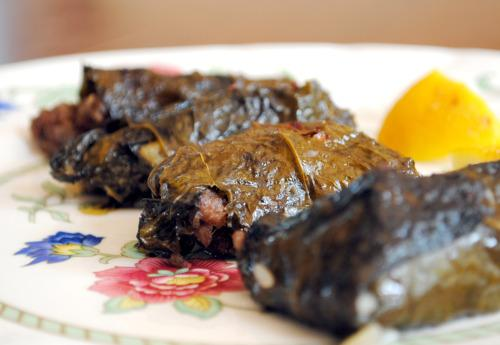 Greek Dolma Aka Stuffed Grape Leaves. Photo by Andi of Longmeadow Farm