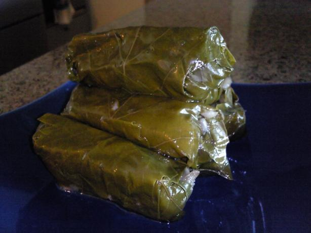 Dolmades With Avgolemeno Sauce. Photo by Coasty