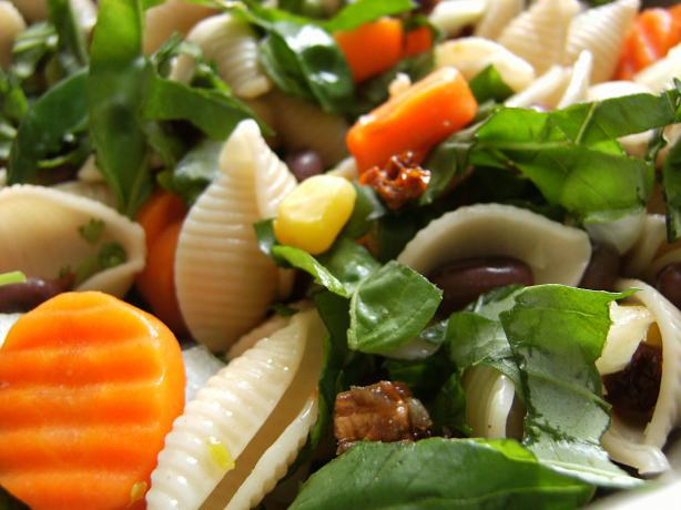 Picnic Pasta Salad (Vegan). Photo by Lalaloula