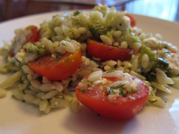 Orzo Salad. Photo by Dr. Jenny