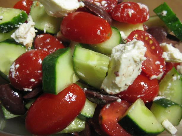 Quick Cucumber, Tomato and Feta Salad. Photo by Charlotte J