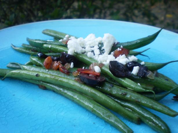 Greek Style Green Beans With Tomatoes and Feta Cheese. Photo by breezermom