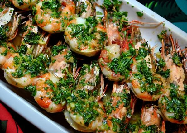 Shrimp With Parsley-Garlic Butter. Photo by Zurie