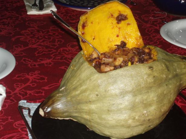 Baked Stuffed Pumpkin. Photo by Chef Tweaker
