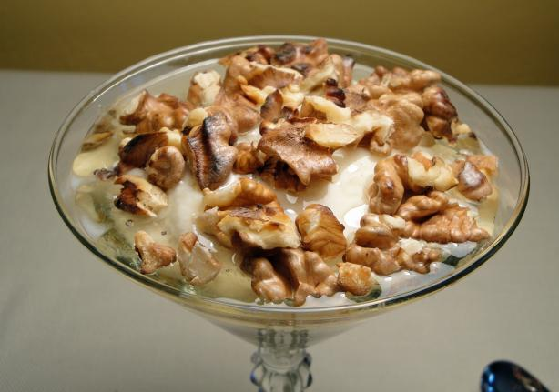 Greek Yogurt With Honey and Walnuts. Photo by Debbwl